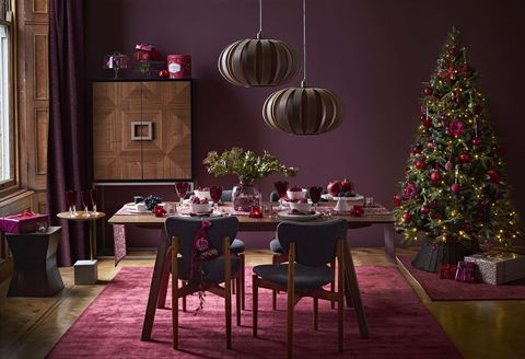 wicker christmas tree skirt john lewis ruby christmas tree decorations - Christmas Decoration Theme Ideas