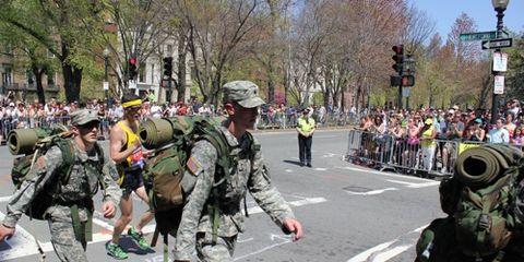 Ruck Marchers at 2011 Boston Marathon