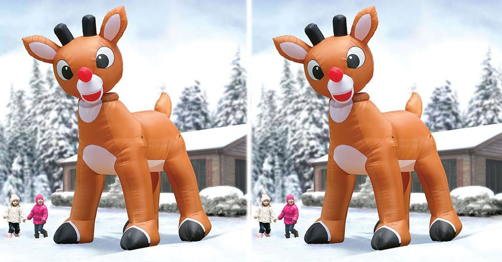 This Giant Rudolph Inflatable Might Be Taller Than Your House