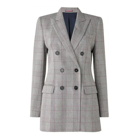 tommy hilfiger   double breasted blazer   met ruitdessin
