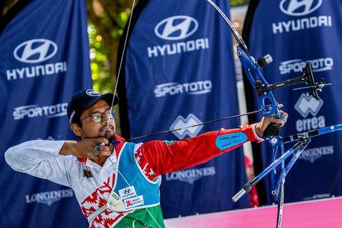 ruman shana, bronce mundial en tiro con arco individual en 2019