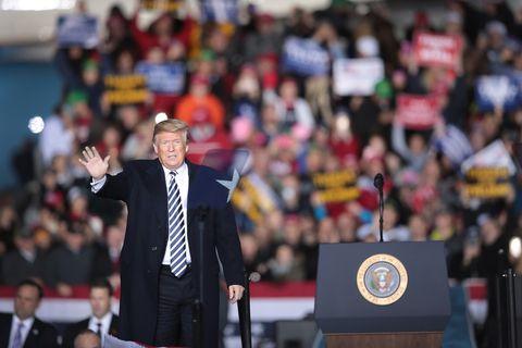 President Trump Holds Rally In Columbia, Missouri