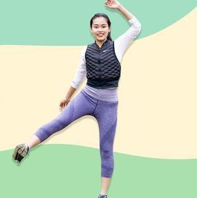 Fun, Skin, Physical fitness, Standing, Leisure, Leg, Footwear, Exercise, Recreation, Muscle,