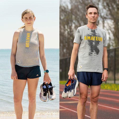 mary cain and nick willis partner with tracksmith