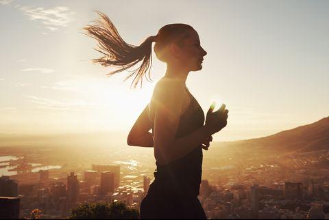 runner in sunshine