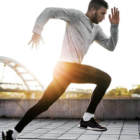 Runner in the morning