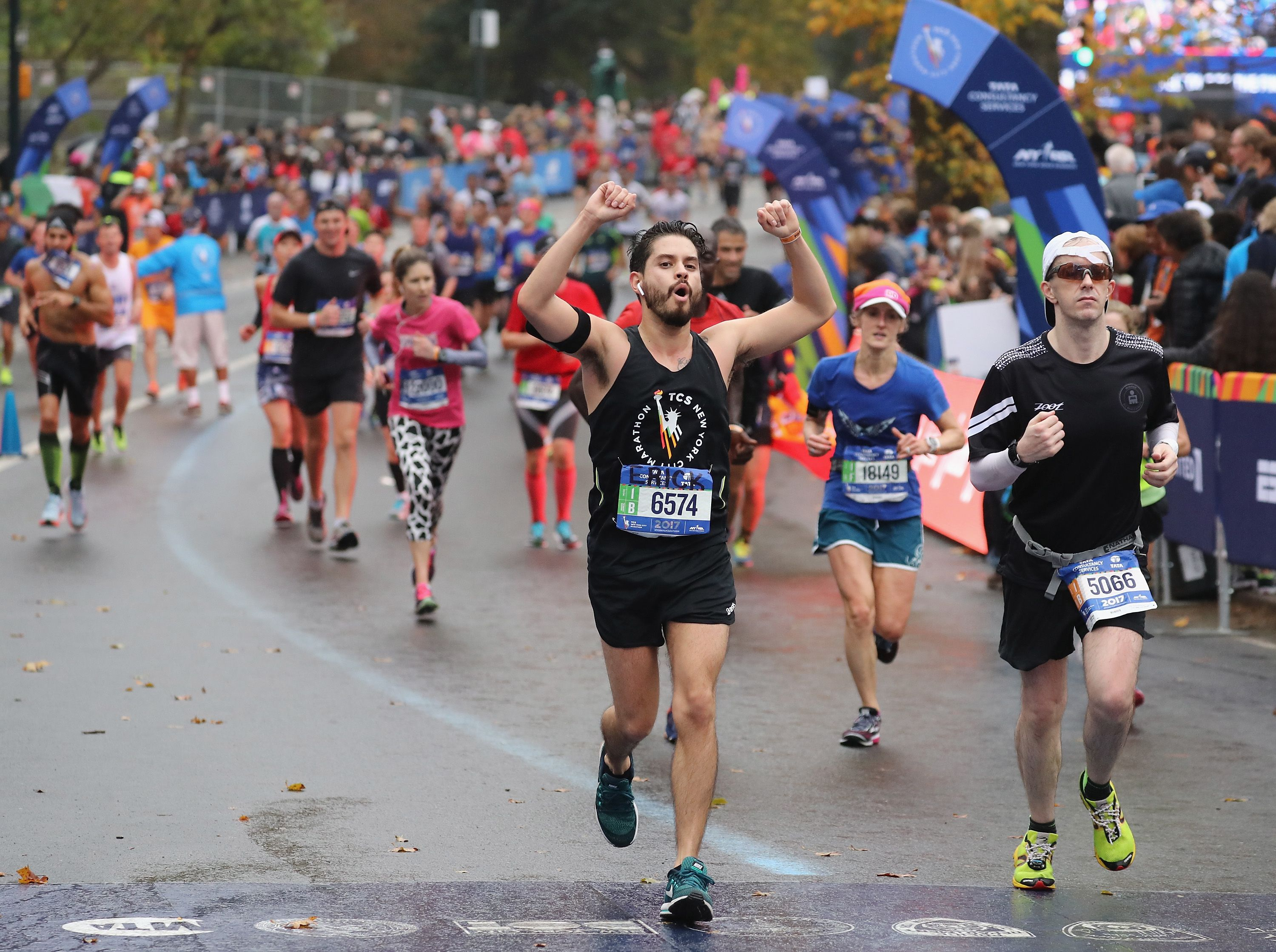 The First 100 Shoes to Cross the NYC Marathon Finish Line