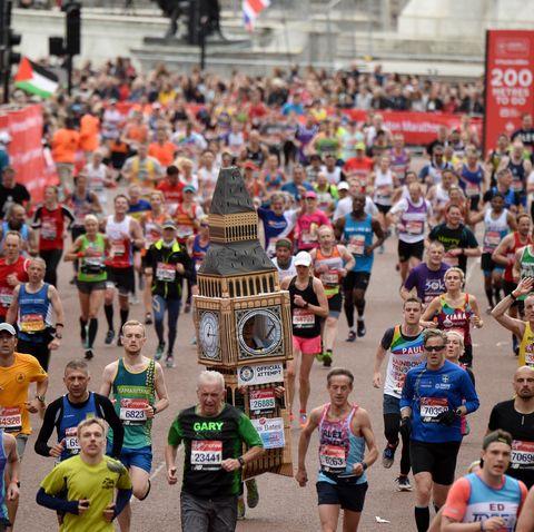 What is the average marathon finish time?