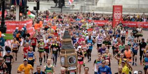 what is the average marathon finish time?
