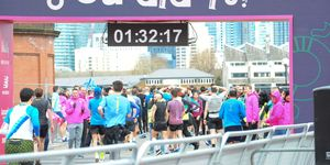 what is a good half marathon time?