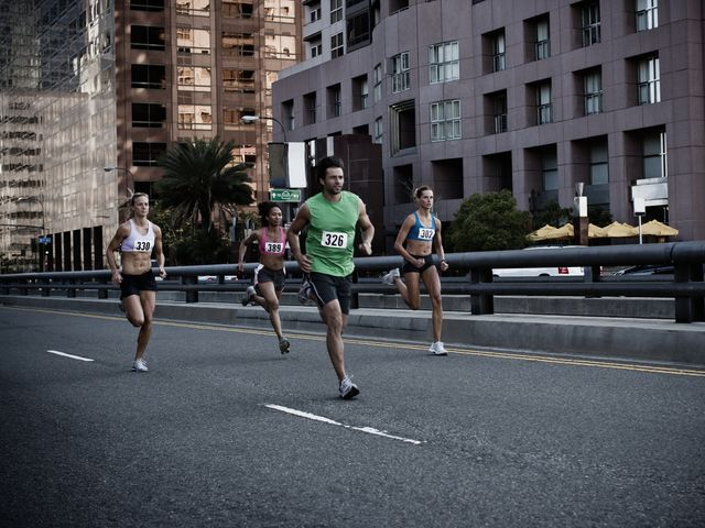 runners in an urban foot race
