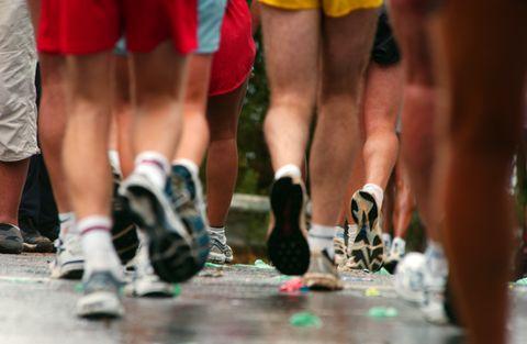 Runners legs and feet
