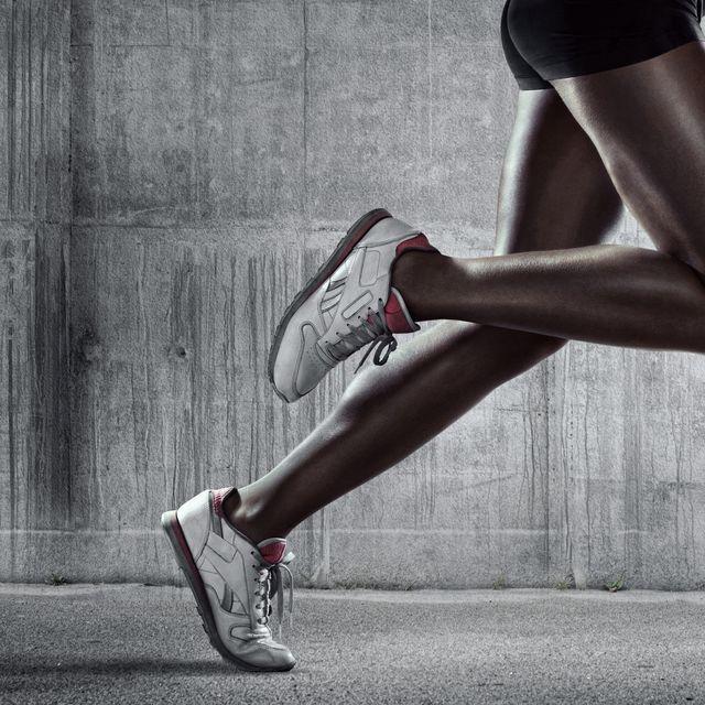 Runners legs. Side view