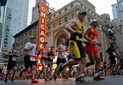 los corredores populares durante el maratón de chicago, uno de los 'majors' del atletismo
