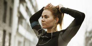 runners preparing in urban invironment