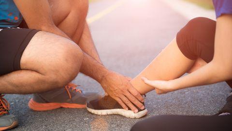 lesiones tobillos corredor