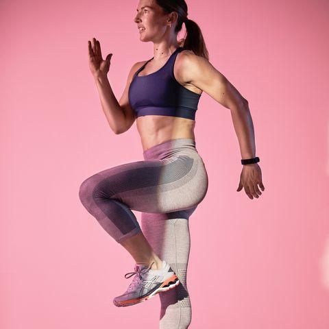 Pink, Leg, Leggings, Dancer, Footwear, Athletic dance move, Joint, Human body, Balance, Abdomen,