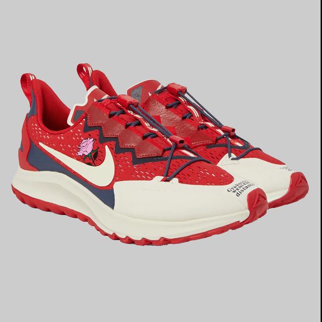 Footwear, Red, Shoe, Carmine, Sneakers, Athletic shoe, Outdoor shoe, Walking shoe, Brand, Sportswear,