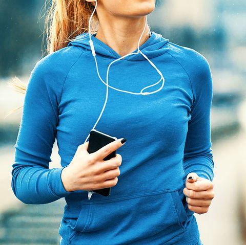 holding phone, run, jog