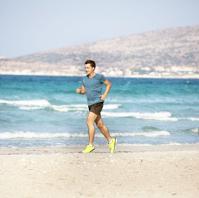 running outdoor on beach