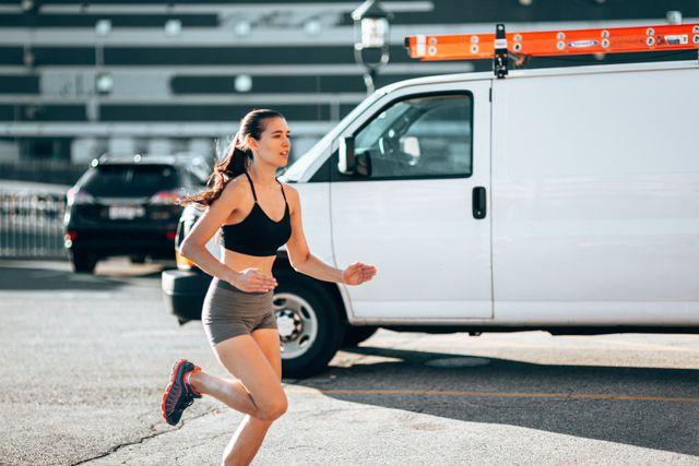 running woman in boston