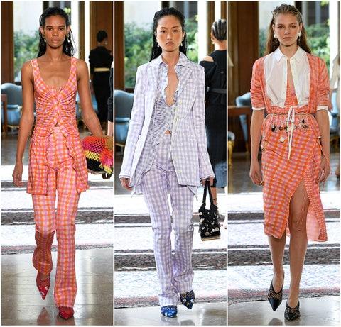 Fashion model, Clothing, Fashion, Suit, Street fashion, Orange, Pink, Dress, Haute couture, Footwear,