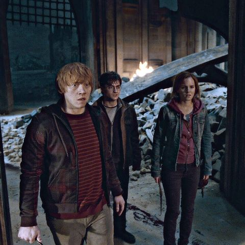 Harry, Ron and Hermione in Harry Potter and the Deathly Hallows