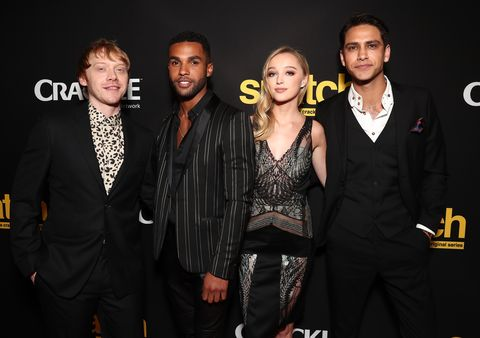 """premiere screening of crackle's """"snatch""""   red carpet"""