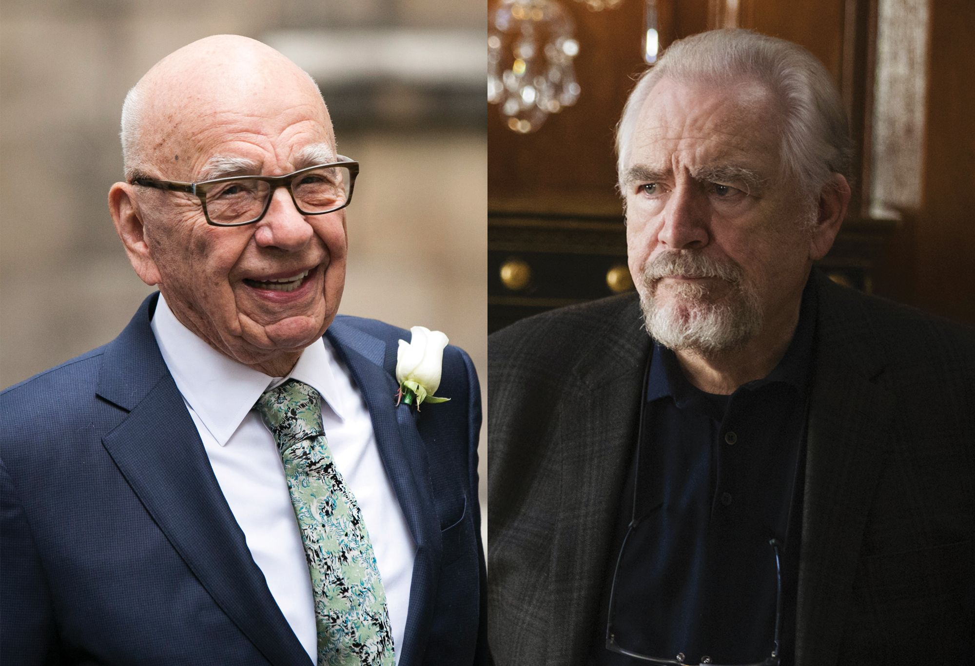 Rupert Murdoch and Logan Roy (played by Brian Cox).