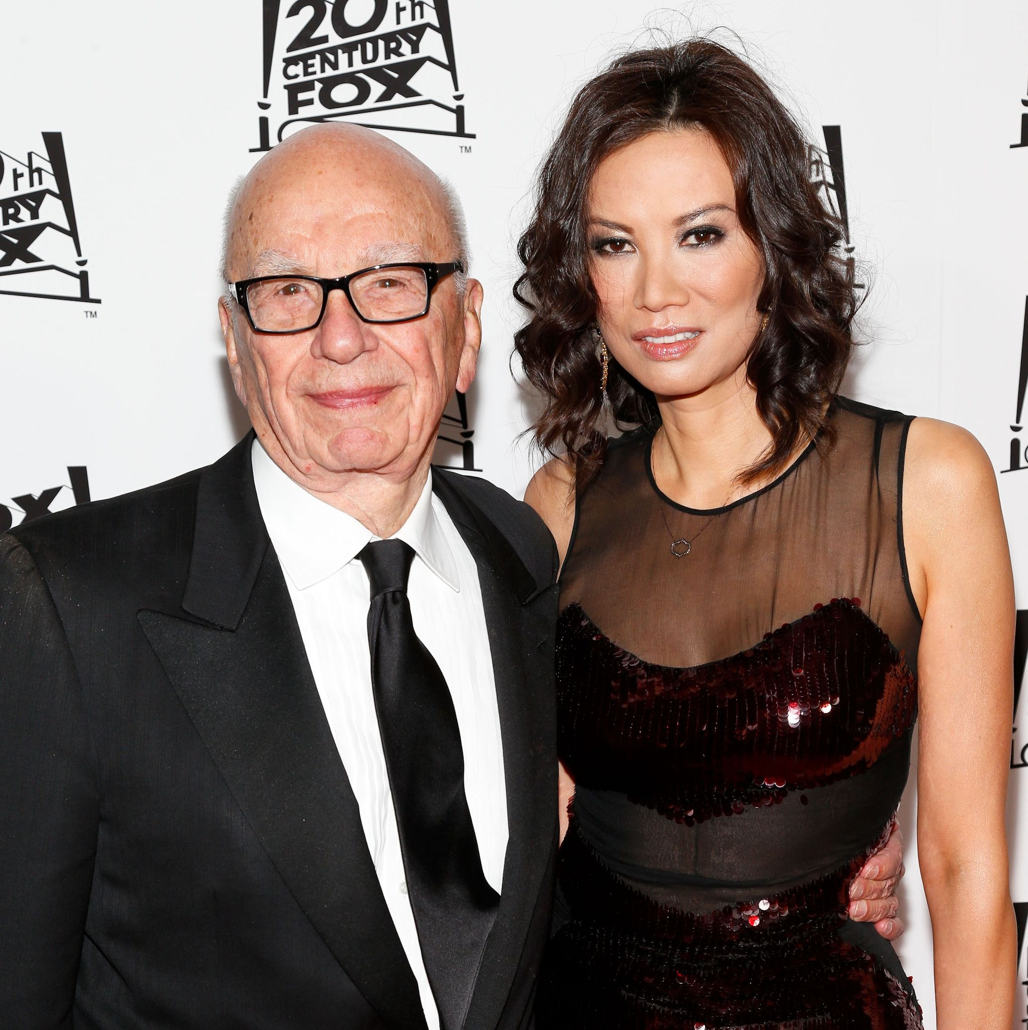 Rupert Murdoch and Wendi Deng in 2013.