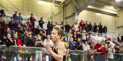 Galen Rupp breaking the U.S. indoor 2-mile record