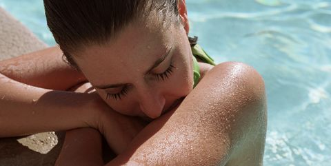 Skin, Sun tanning, Summer, Vacation, Barechested, Arm, Muscle, Neck, Leisure, Fun,