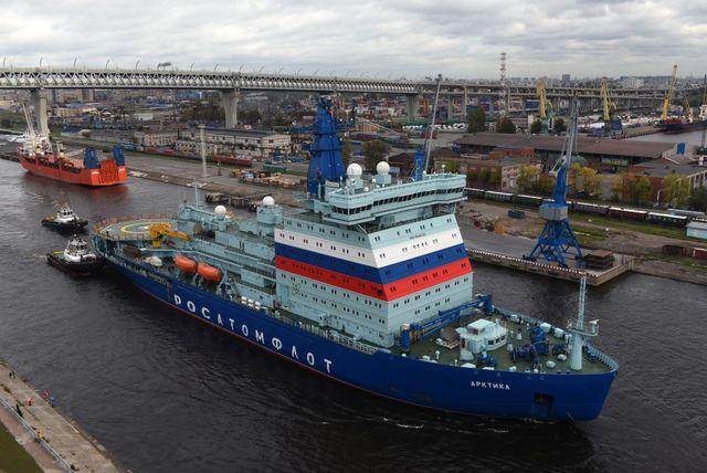 russian nuclear powered icebreaker arktika
