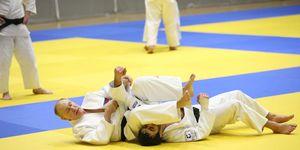 Russian President Vladimir Putin attends judo trainings in Sochi