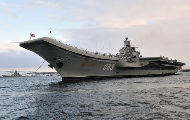 russia's admiral kuznetsov aircraft carrier and pyotr velikiy battlecruiser return from 2016 syria mission