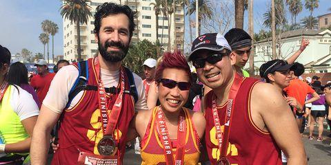 Photo of Dr. Jonathan Russin, Kathy Nguyen, and Robby Alvarez