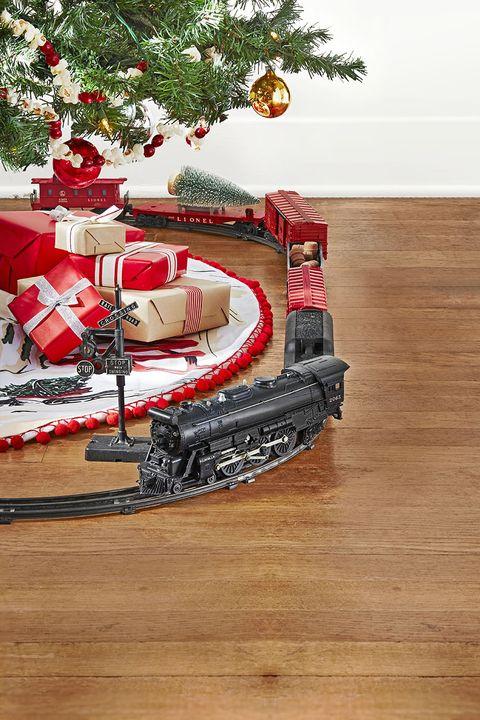 rustic christmas tree train