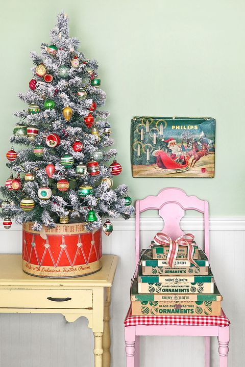 rustic christmas tree vintage stand