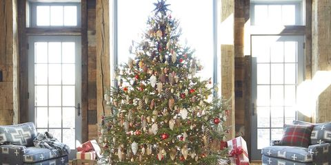 rustic christmas trees - Barn Christmas Decorations