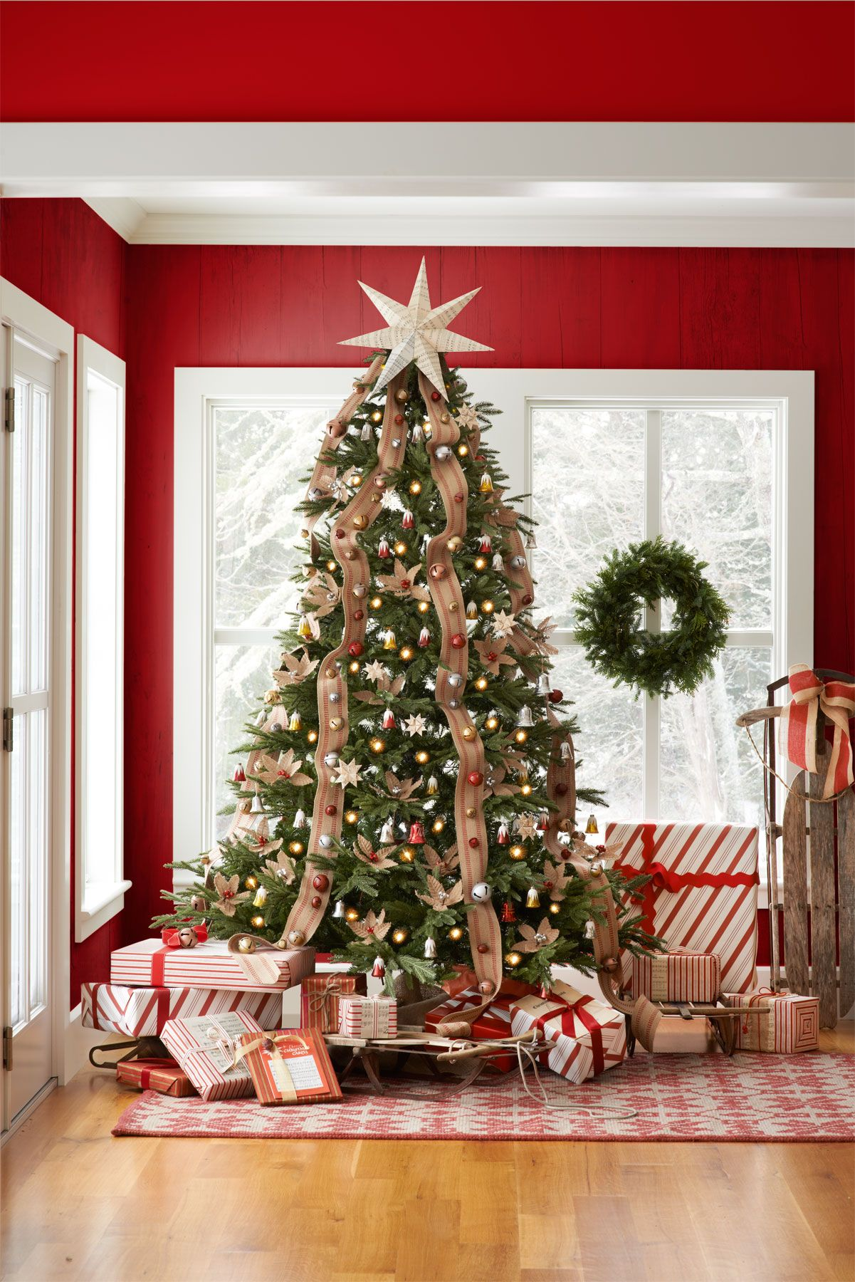20 Rustic Christmas Trees Ideas For Country Decorations On