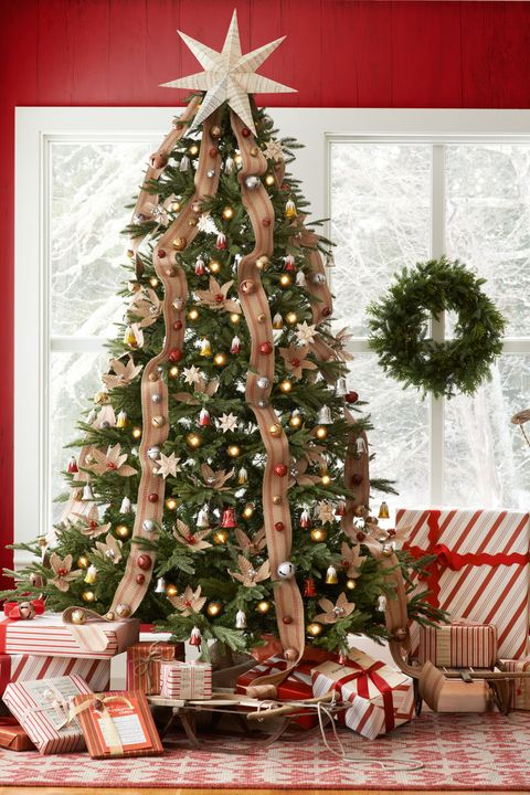 20 rustic christmas trees ideas for country decorations. Black Bedroom Furniture Sets. Home Design Ideas