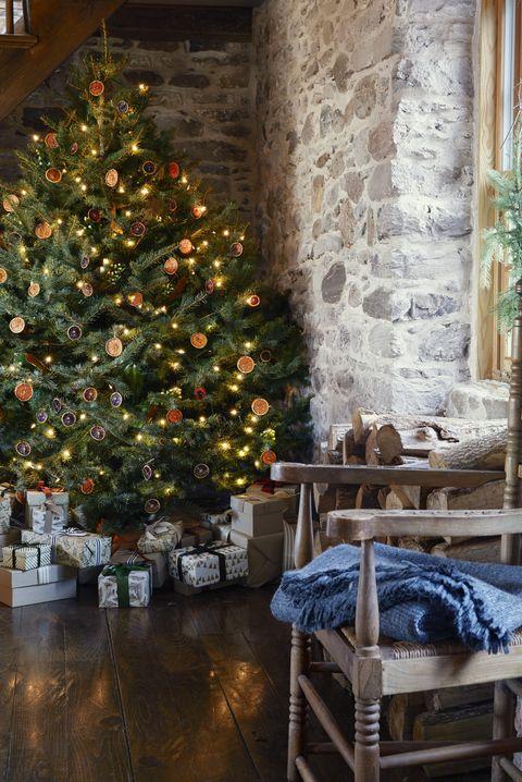 Rustic Christmas Trees Citrus Garland