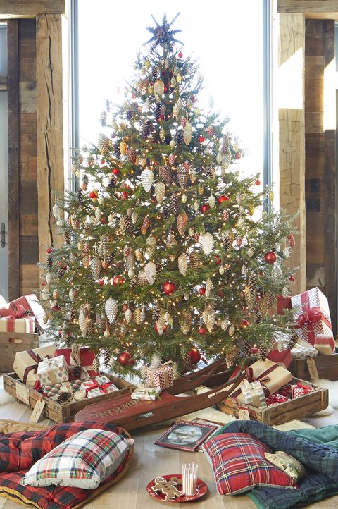 30 Rustic Christmas Trees Ideas For Country Decorations On