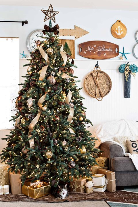 rustic christmas trees luxe