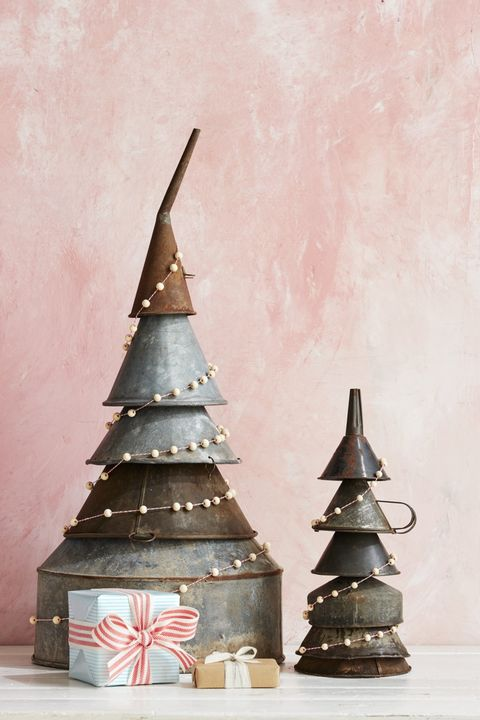 Rustic Christmas Trees Industrial Funnel