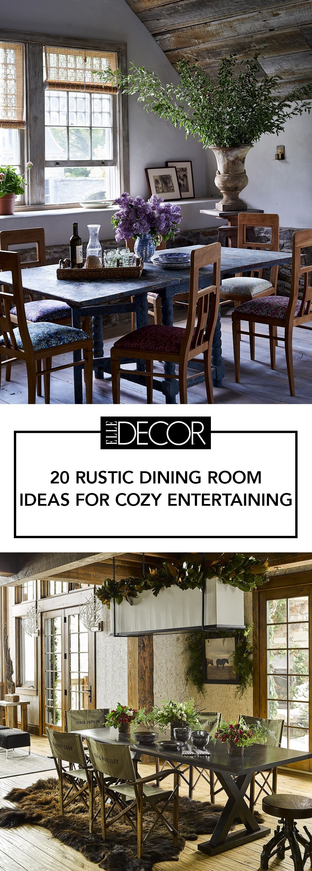 Rustic Dining Room Ideas Part - 41: Elle Decor