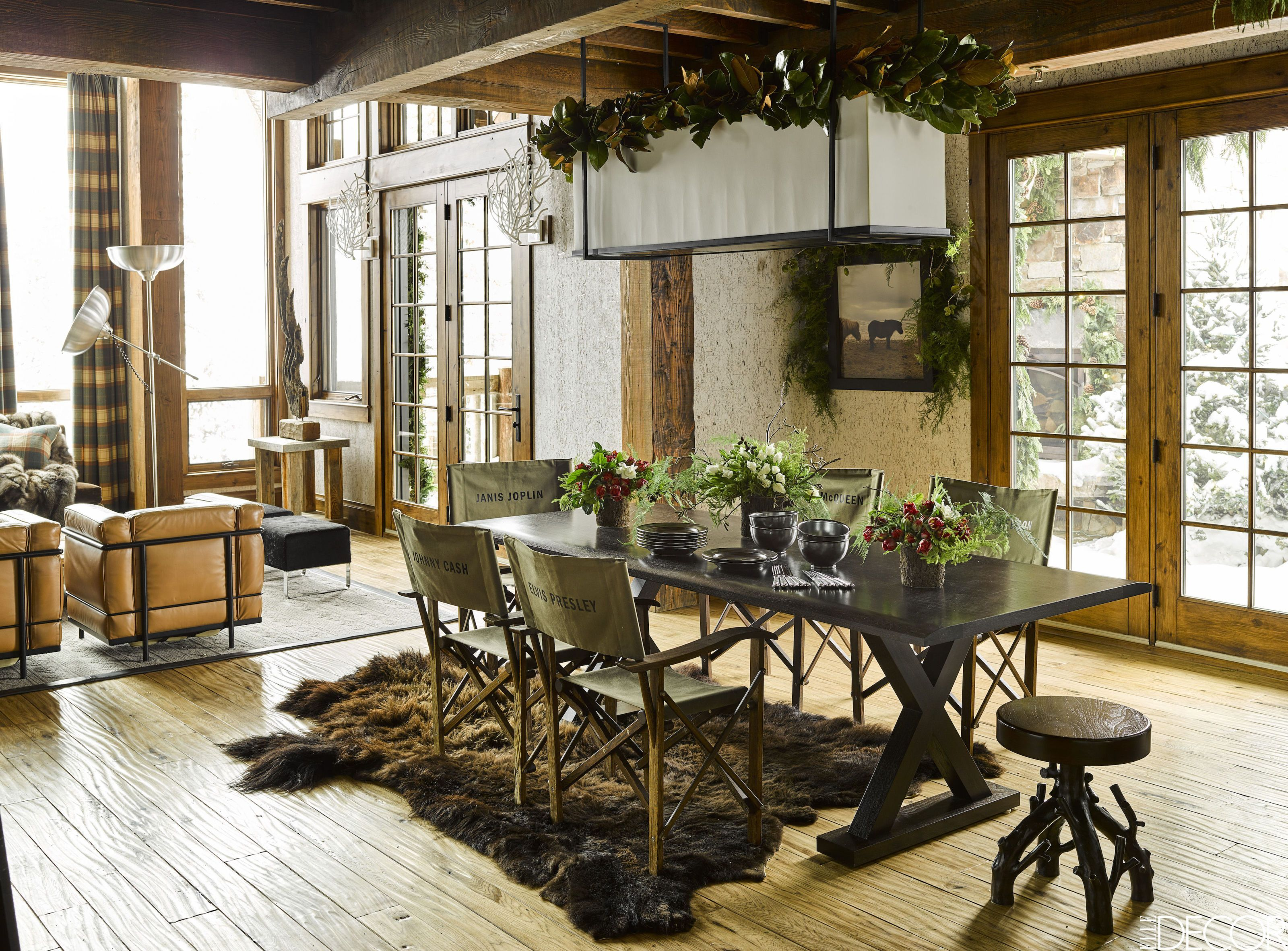 Rustic Dining Room Ideas Part - 30: Elle Decor