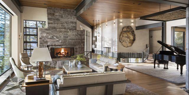 35 Best Rustic Living Room Ideas, Rustic Modern Furniture Designer