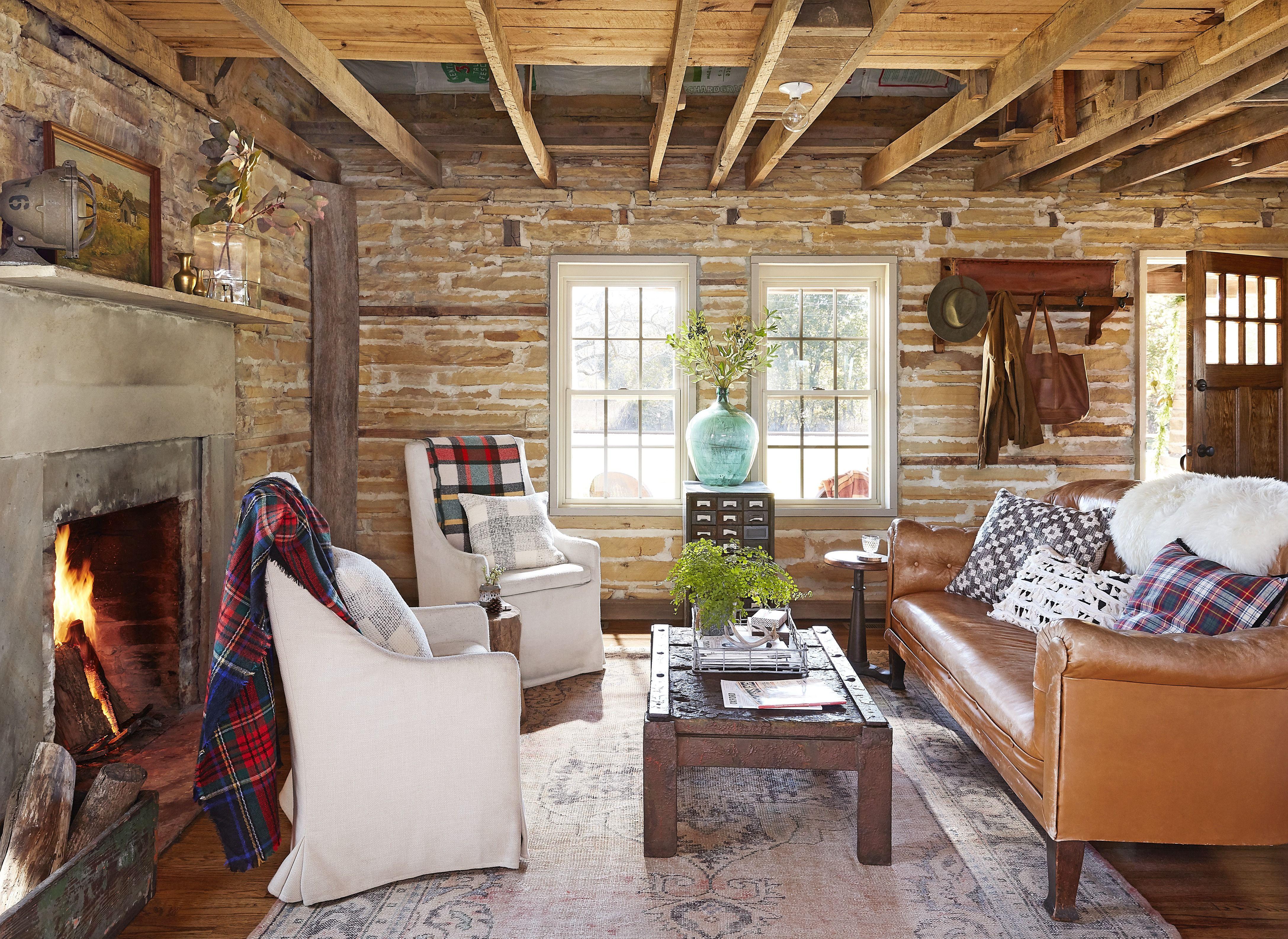 25 Rustic Living Room Ideas , Modern Rustic Living Room
