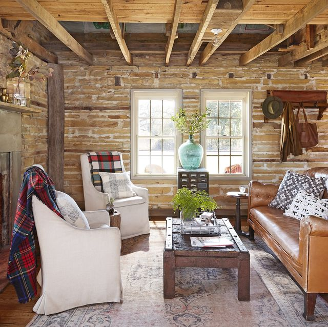 25 Rustic Living Room Ideas - Modern Rustic Living Room ... on Traditional Rustic Decor  id=47832